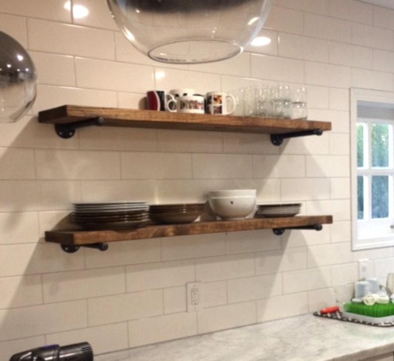 Floating Kitchen Shelves: Extra Long 10 Deep Rustic Farmhouse Floating Shelves