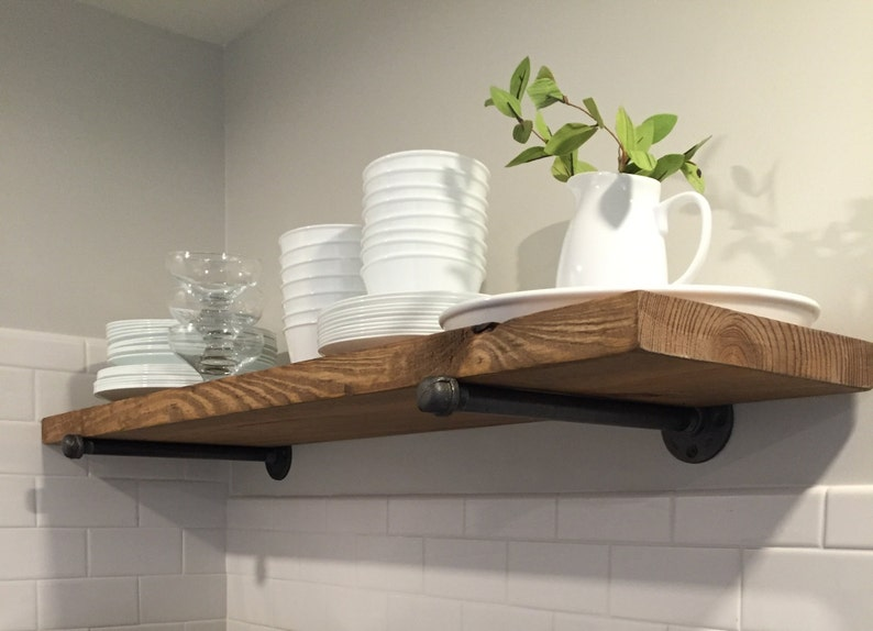 Merveilleux Many Sizes Rustic Industrial Floating Shelves WITHOUT PIPE BRACKETS, Wall  Shelves, Pipe Shelving, Rustic Wood Shelf, Farmhouse Shelves