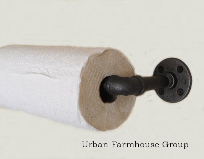 Paper Towel Holder Urban Industrial Kitchen Paper Towel Dispenser Hand Towel Paper Roll Holder Wall Mounted Hand Towel Roll Holder