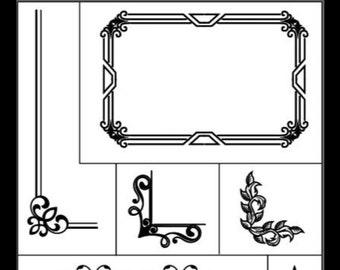 "Magnolia Design Co-Frame it Up-Reusable Adhesive Silkscreen Stencil 12"" x 18""-Chalk Art DIY"