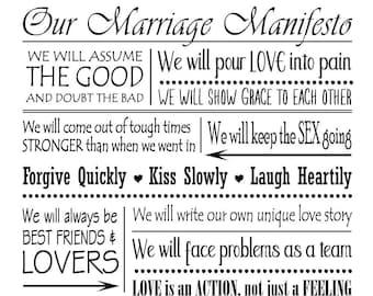"Magnolia Design Co-Marriage Manifesto-Reusable Adhesive Silkscreen Stencil 12"" x 18""-Chalk Art DIY"