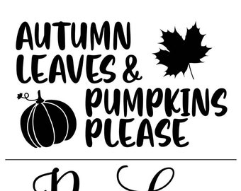 "Magnolia Design Co-Autumn Leaves-Reusable Adhesive Silkscreen Stencil 8.5"" X 11""-Chalk Art DIY"
