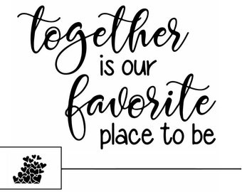"Magnolia Design Co-Together is Our Favorite-Reusable Adhesive Silkscreen Stencil 8.5"" X 11""-Chalk Art DIY"
