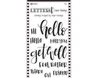 "Ranger GREETINGS  Letter It Clear Stamp Set ""The Perfect Sentiment Stamp Set"" LEC59318"