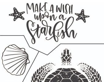 "Magnolia Design Co-Make a Wish-Reusable Adhesive Silkscreen Stencil 8.5"" X 11""-Chalk Art DIY"
