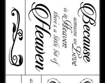 "Magnolia Design Co-Because Someone We Love-Reusable Adhesive Silkscreen Stencil 12"" x 18""-Chalk Art DIY"