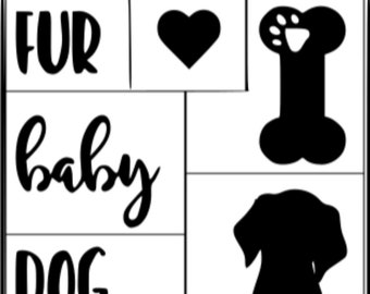 "Magnolia Design Co-Dog Mama-Reusable Adhesive Silkscreen Stencil 8.5"" X 11""-Chalk Art DIY"