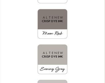 Altenew Warm Gray Mini Cube Ink Pads 4pc Set