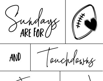 "Magnolia Design Co-Sundays Are For-Reusable Adhesive Silkscreen Stencil 8.5"" x 11""-Chalk Art DIY"