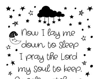 "Magnolia Design Co-Bedtime Prayer-Reusable Adhesive Silkscreen Stencil 8.5"" x 11""-Chalk Art DIY"
