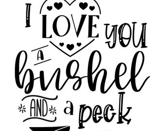 "Magnolia Design Co-Bushel and a Peck-Reusable Adhesive Silkscreen Stencil 8.5"" X 11""-Chalk Art DIY"