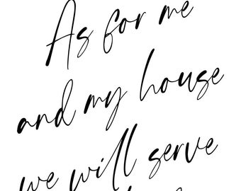 "Magnolia Design Co-As For Me and My House-Reusable Adhesive Silkscreen Stencil 8.5"" x 11""-Chalk Art DIY"