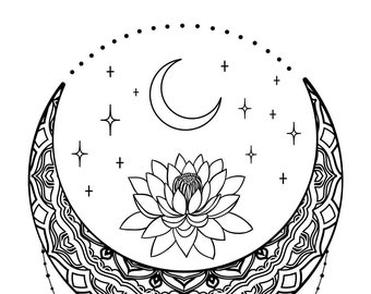 "Magnolia Design Co-Mystic Moon-Reusable Adhesive Silkscreen Stencil 12"" x 18""-Chalk Art DIY"