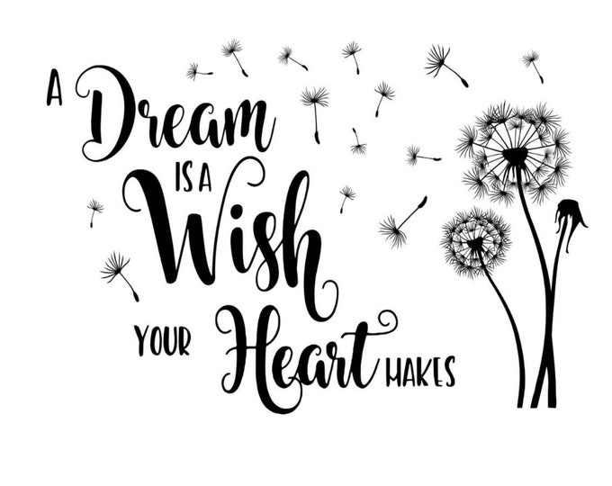 "Featured listing image: Magnolia Design Co-A Dream is a Wish-Reusable Adhesive Silkscreen Stencil 12"" x 18""-Chalk Art DIY"
