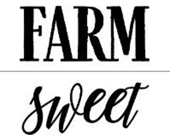 "Magnolia Design Co-Farm Sweet Home-Reusable Adhesive Silkscreen Stencil 8.5"" X 11""-Chalk Art DIY"