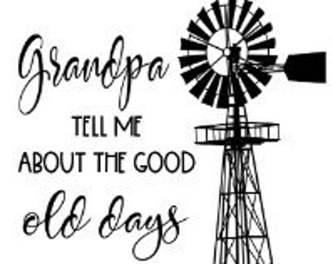 "Featured listing image: Magnolia Design Co-Grandpa Tell Me-Reusable Adhesive Silkscreen Stencil 8.5"" x 11""-Chalk Art DIY"