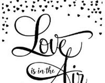"Magnolia Design Co-Love is in the Air-Reusable Adhesive Silkscreen Stencil 8.5"" x 11""-Chalk Art DIY"