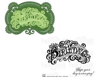 Heartfelt Creations Elaborate Birthday Die and Stamp Bundle HCD1-7322 & HCPC-3937