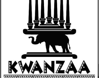 "Magnolia Design Co-Kwanzaa-Reusable Adhesive Silkscreen Stencil 8.5"" X 11""-Chalk Art DIY"