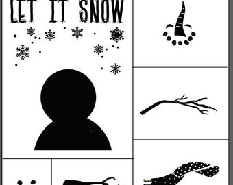 "Magnolia Design Co-Let It Snow-Reusable Adhesive Silkscreen Stencil 15"" x 15""-Chalk Art DIY"