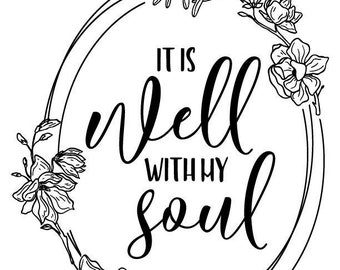 "Magnolia Design Co-It is Well-Reusable Adhesive Silkscreen Stencil 8.5"" x 11""-Chalk Art DIY"