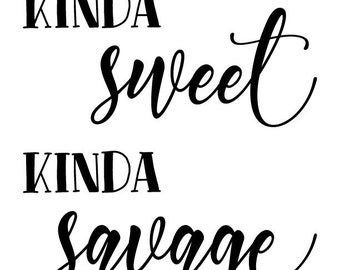 "Magnolia Design Co-Kinda Sweet-Reusable Adhesive Silkscreen Stencil 8.5"" X 11""-Chalk Art DIY"