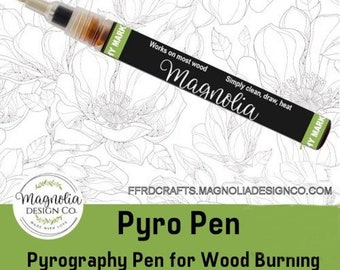 Magnolia Design Co-Accessories-Pyro Pen Pyrography Pen for Wood Burning-Chalk Art DIY