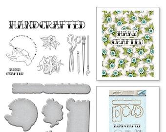 Spellbinders Handcrafted Handmade by Stephanie Low Stamp and Die Set SDS-071