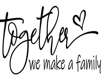 "Magnolia Design Co-Together-Reusable Adhesive Silkscreen Stencil 5""X7""-Chalk Art DIY"