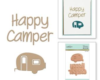 Spellbinders Happy Camper Glimmer Hot Foil Plate GLP-008