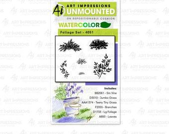Art Impressions Unmounted Foliage Set 1 Stamp Set 4051 - WC