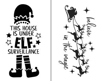 "Magnolia Design Co-Elf Surveillance-Reusable Adhesive Silkscreen Stencil 8.5"" x 11""-Chalk Art DIY"