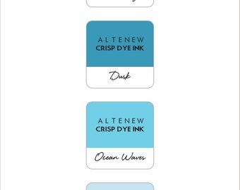 Altenew Cool Summer Night Mini Cube Ink Pads 4pc Set