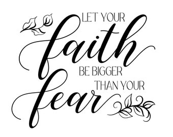 "Magnolia Design Co-Let Your Faith-Reusable Adhesive Silkscreen Stencil 8.5"" x 11""-Chalk Art DIY"