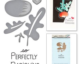 Spellbinders Market Fresh by Debi Adams Perfectly Radishing Stamp and Die Set SDS-048