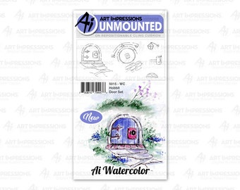 Art Impressions Unmounted Hobbit Door Stamp Set 5015 - WC