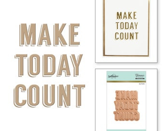 Spellbinders Make Today Count Glimmer Hot Foil Plate GLP-010