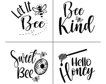 "Magnolia Design Co-Bee Kind Quads-Reusable Adhesive Silkscreen Stencil 12"" X 12""-Chalk Art DIY"