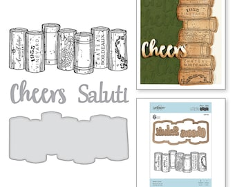 Spellbinders Wine Corks Stamp and Die Set - Exclusive SDS-132