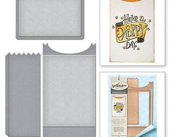 Spellbinders Shapeabilities Paper Bag Envelope Happy Grams by Tammy Tutterow Etched Dies S6-118