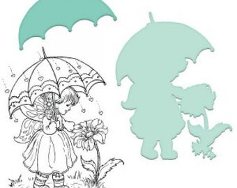 Heartfelt Creations Blooming in the Rain Stamp and Die Combo HCSD1-2025