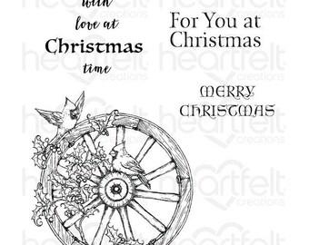 Heartfelt Creations Festive Holiday Cling Stamp Set HCPC-3792