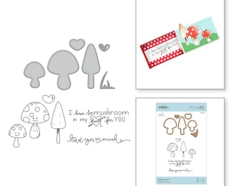 Spellbinders Getting All Mushy Stamp and Die Set - Exclusive SDS-129