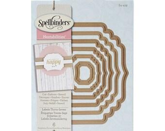 Spellbinders Nestabilities 'Labels Thirty-Seven' Scrapbooking Template S4-419