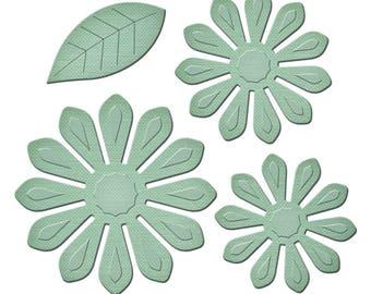 Spellbinders Shapeabilities A Gilded Life Urban Blooms Etched Dies GLD-013