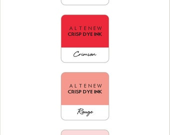 Altenew Red Sunset Mini Cube Ink Pads 4pc Set