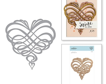 Spellbinders Shapeabilities Swirl Heart Etched Dies On the Wings of Love Collection by Joanne Fink S4-891