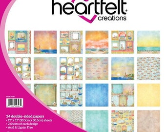 Heartfelt Creations Sea Breeze Paper Collection HCDP1-2107