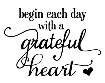 "Magnolia Design Co-Grateful Heart-Reusable Adhesive Silkscreen Stencil 8.5"" X 11""-Chalk Art DIY"