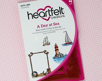 Heartfelt Creations A Day at Sea Cling Stamp Set HCPC-3892